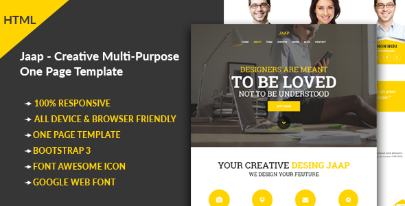 Jaap - Creative Multi-Purpose HTML Template - Portfolio Creative