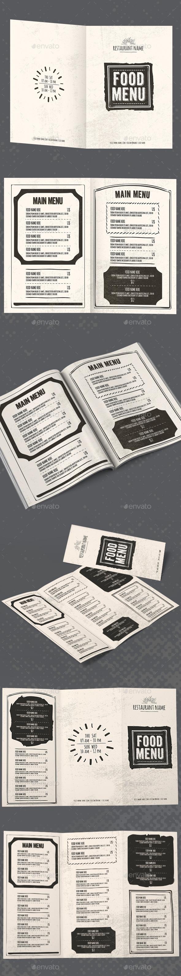 Vintage Restaurant Menu Package - Food Menus Print Templates