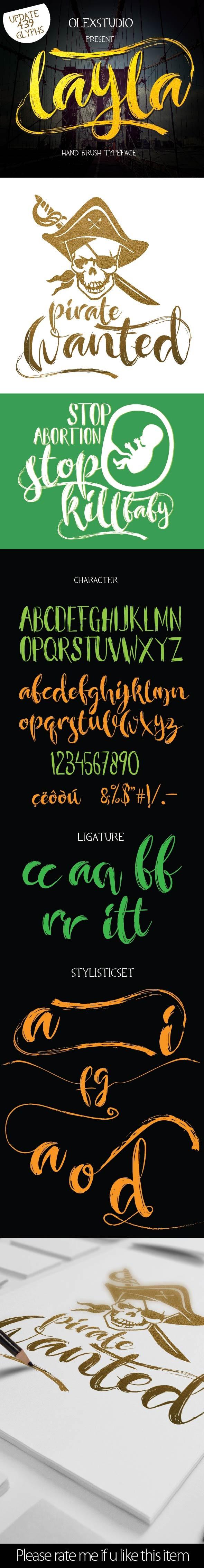 LAYLA Brush typeface (UPDATE) - Script Fonts
