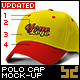 Polo Cap Mock-up with Embroidered Logo - GraphicRiver Item for Sale