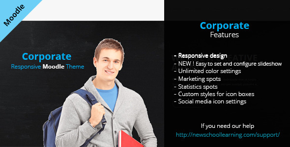 Corporate – Responsive Moodle Theme