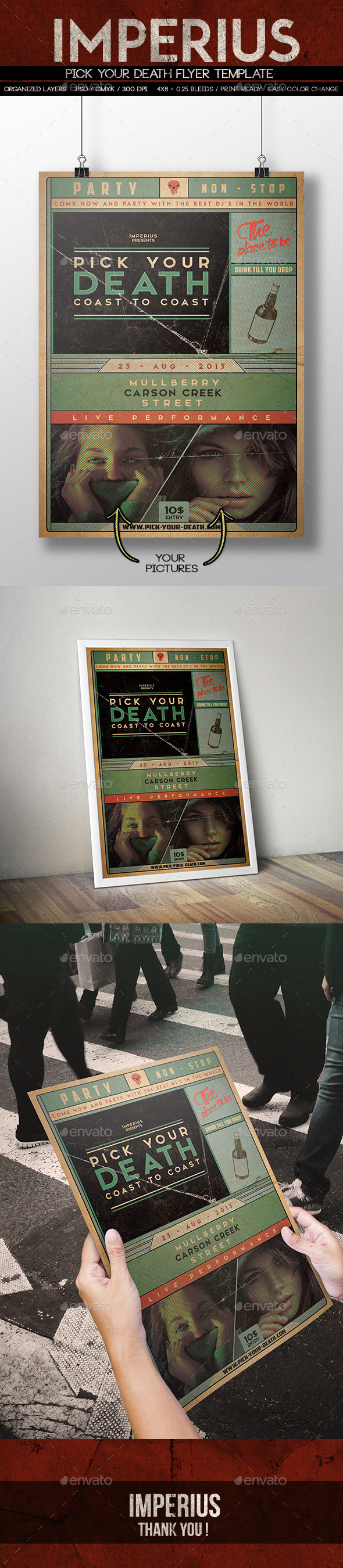 Pick your Death Flyer - Events Flyers