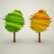 Autumn and Summer Tree - 3DOcean Item for Sale