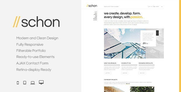 Schon - Responsive Modern HTML Template - Business Corporate