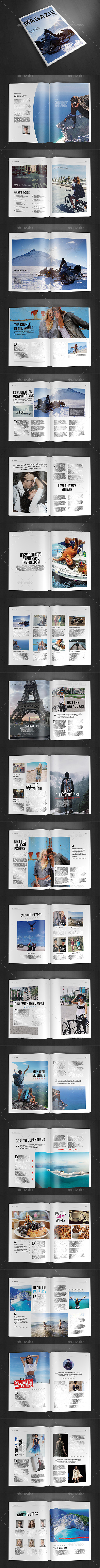A4 Magazine Template Vol. 16 - Magazines Print Templates