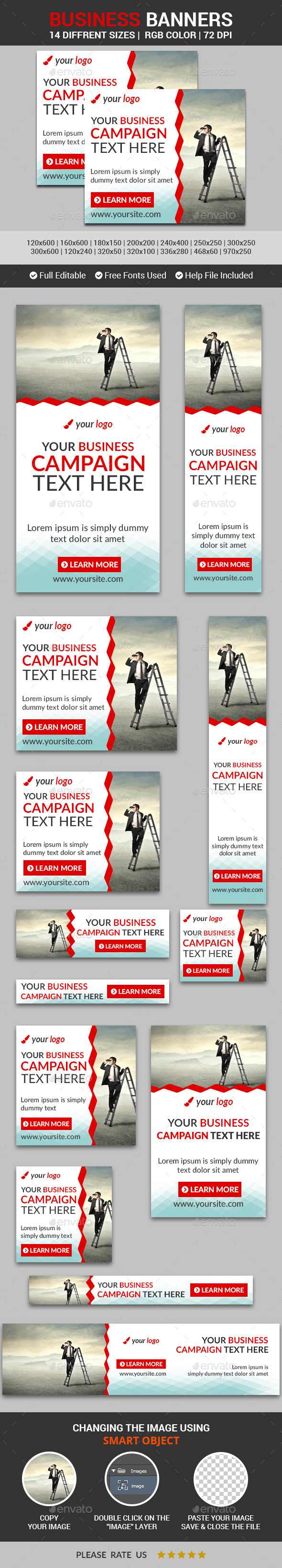 Business Banners v5 - Banners & Ads Web Elements