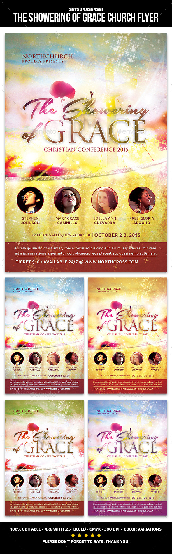 The Showering of Grace Church Flyer - Church Flyers