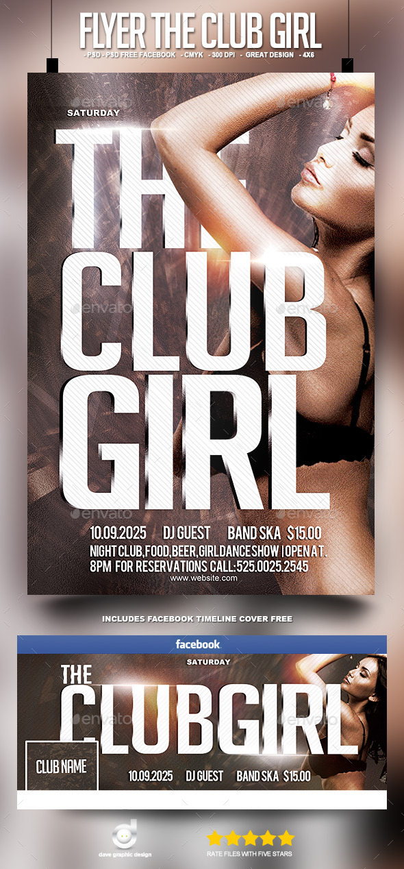 Flyer The Club Girl - Clubs & Parties Events