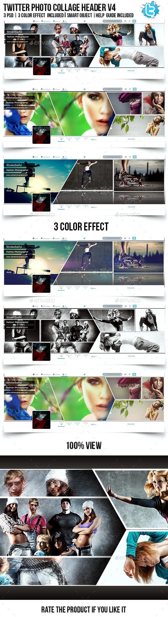 Twitter Photo Collage Header V4 - Twitter Social Media