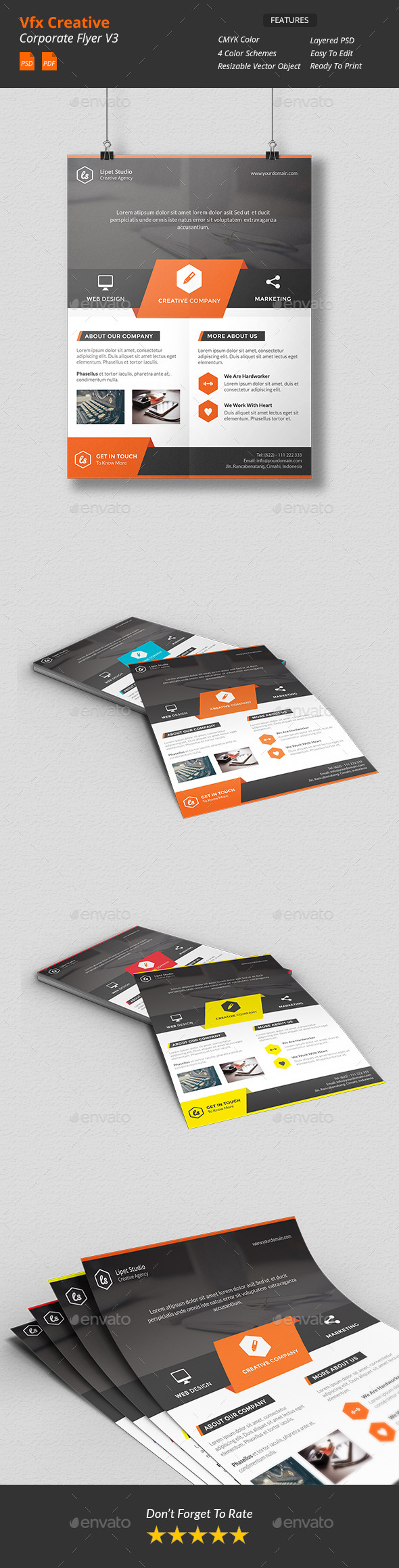 Vfx - Creative Corporate Flyer v3 - Corporate Flyers