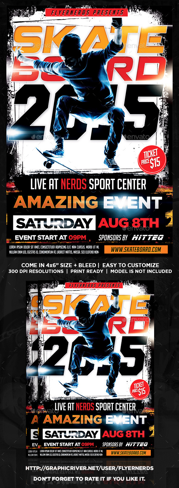 Skateboard Championships Sports Flyer - Sports Events