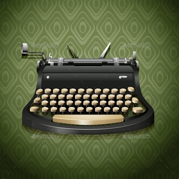 Vintage Design of Typewriter - Objects Vectors