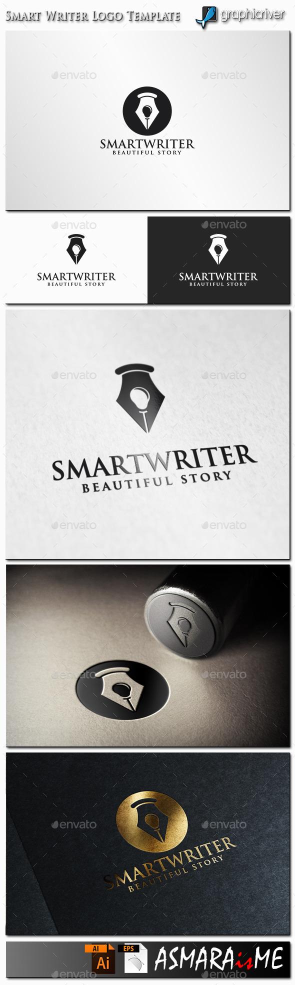 Smart Writer Logo - Symbols Logo Templates