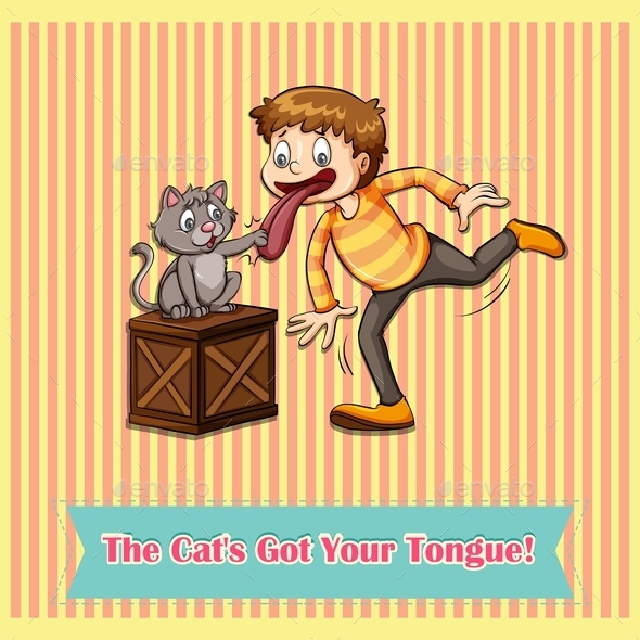 Idiom Cat's Got Your Tongue - Animals Characters