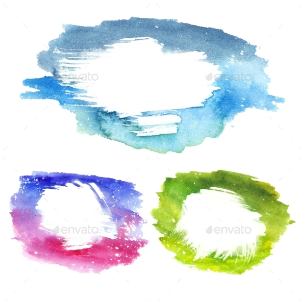 Watercolor Text Frames - Abstract Illustrations