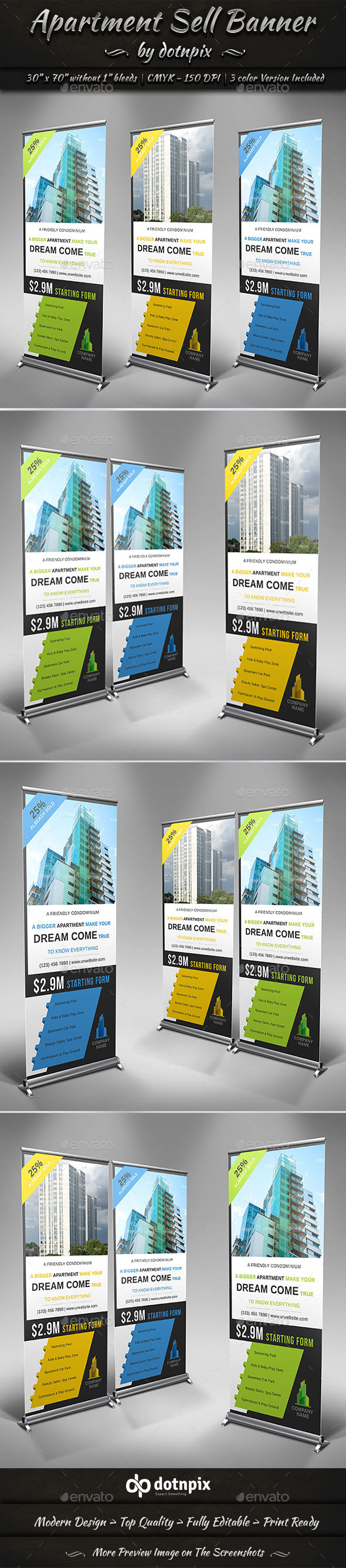 Apartment Sell Banner - Signage Print Templates