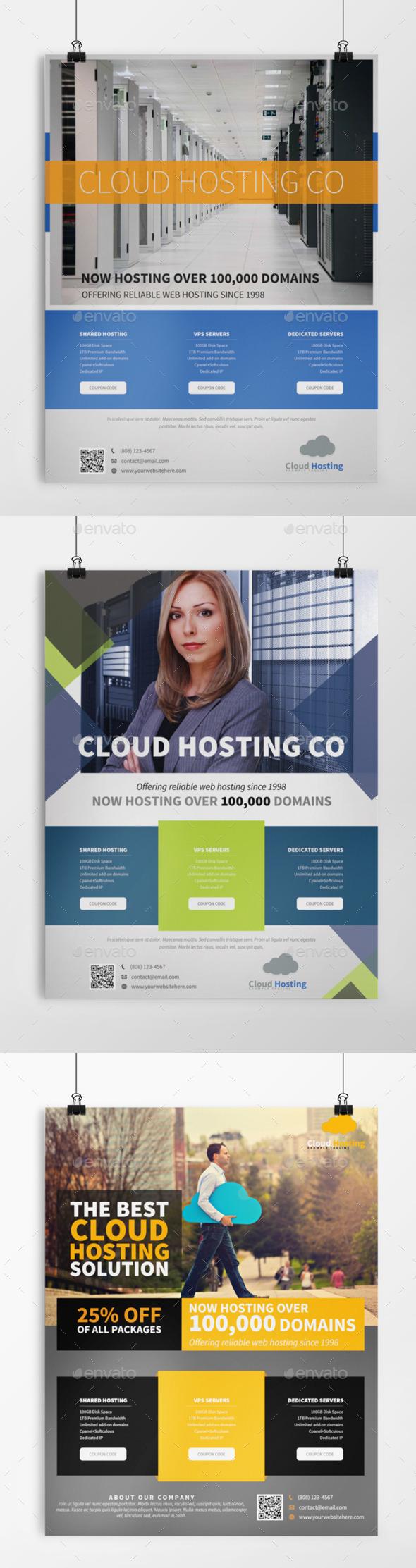 3in1 Web Hosting Flyer Bundle - Commerce Flyers