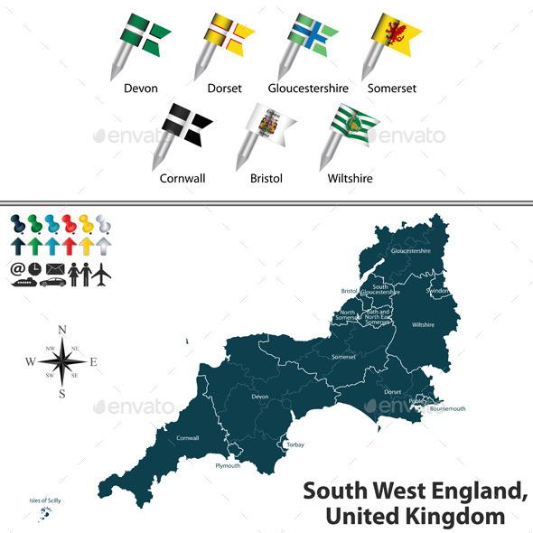 South West England, United Kingdom - Travel Conceptual