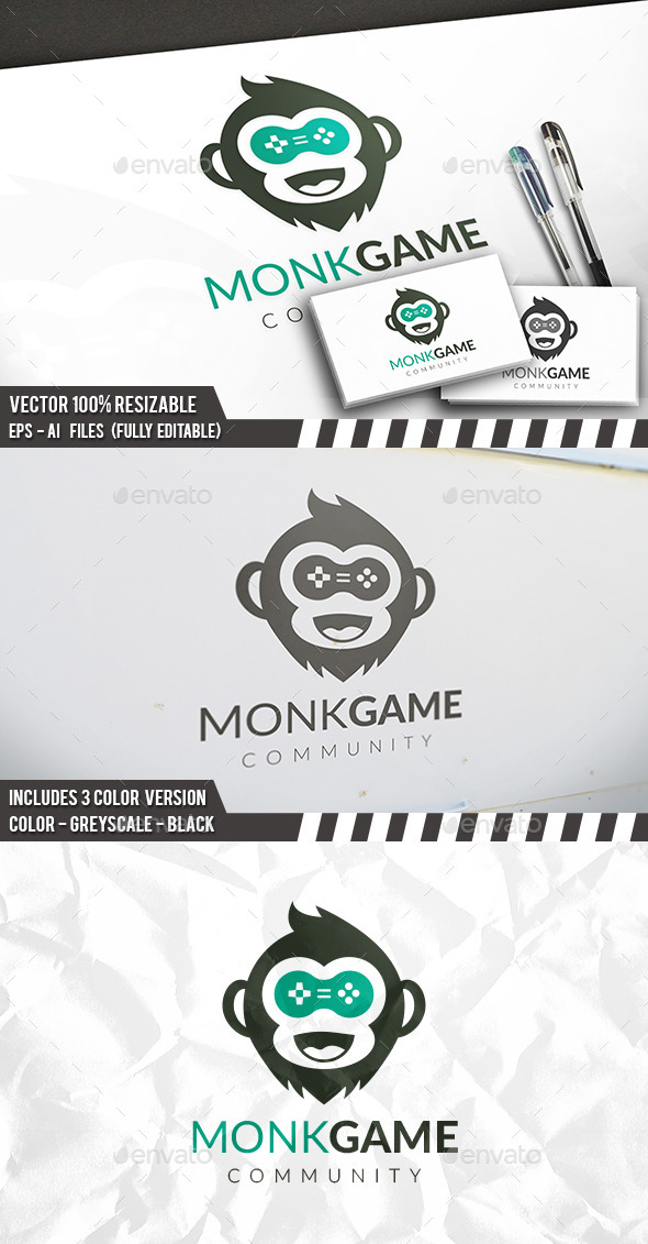 Monkey Games Logo - Animals Logo Templates