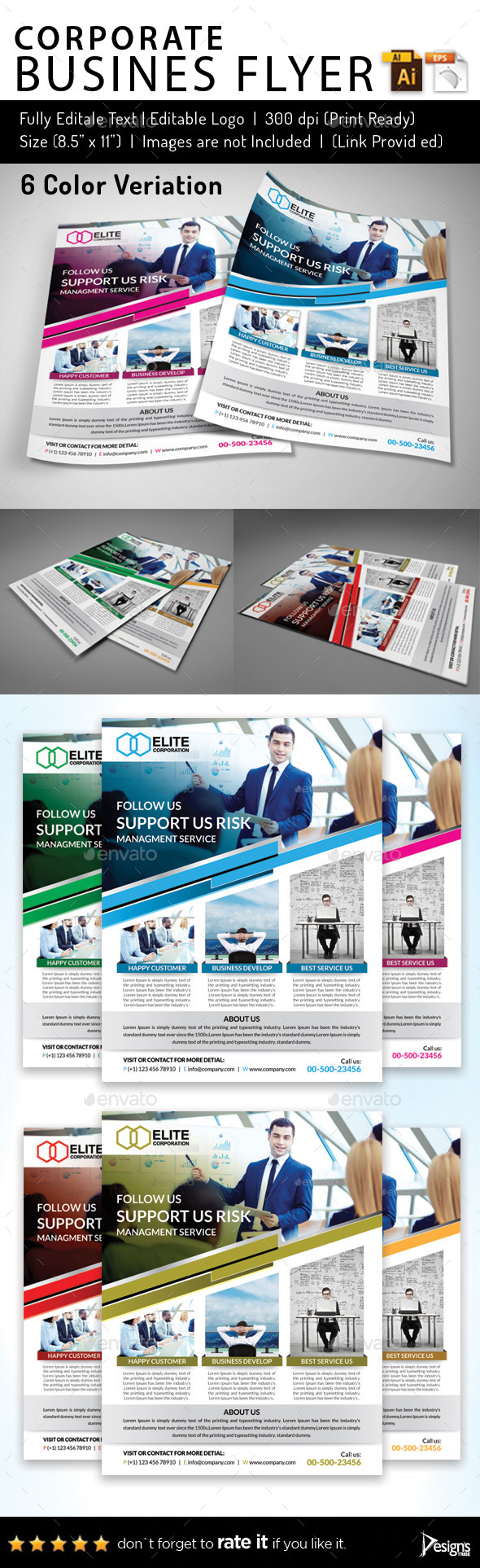 Multipurpose Business Flyer 50 - Flyers Print Templates