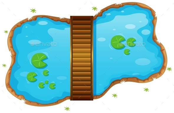 Small Pond with a Bridge - Miscellaneous Conceptual