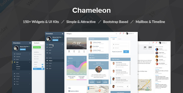 Chameleon Admin PSD Template - Miscellaneous PSD Templates