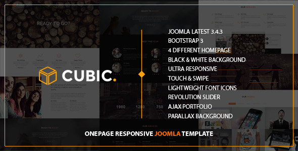 Cubic – One Page Responsive JOOMLA Template