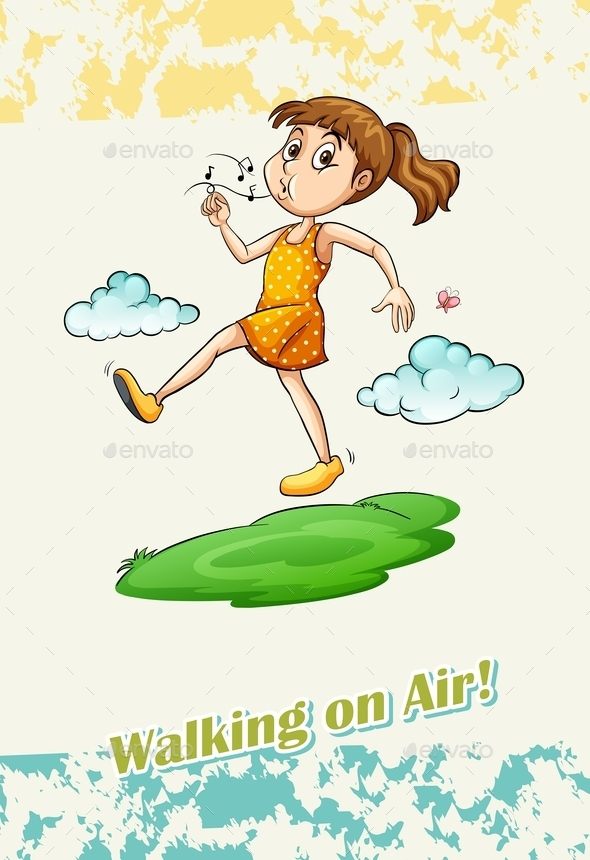 Idiom Walking on Air - Miscellaneous Conceptual