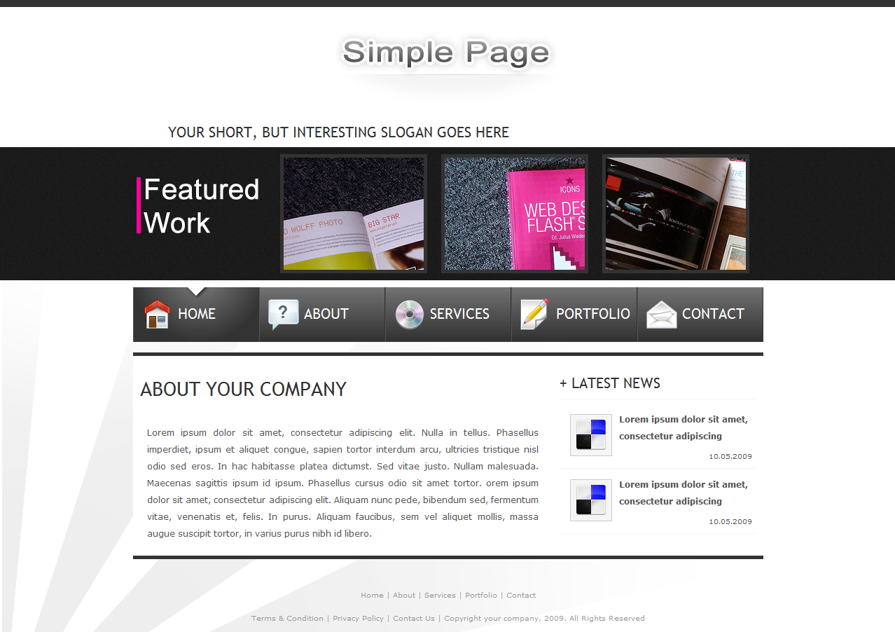 Free Download SimplePage - Site template + Portfolio Nulled Latest Version