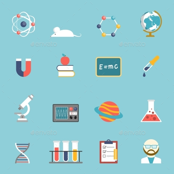 Science And Research Icon Set  - Technology Icons