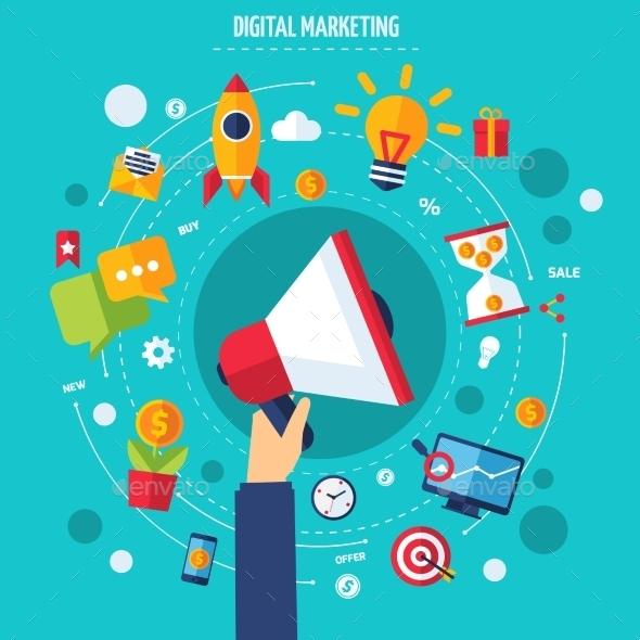 Digital Marketing Concept - Business Conceptual