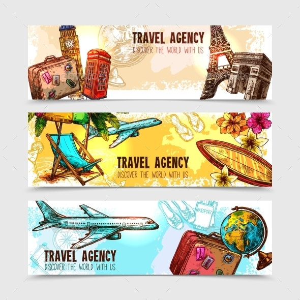 Travel Banner Set - Travel Conceptual