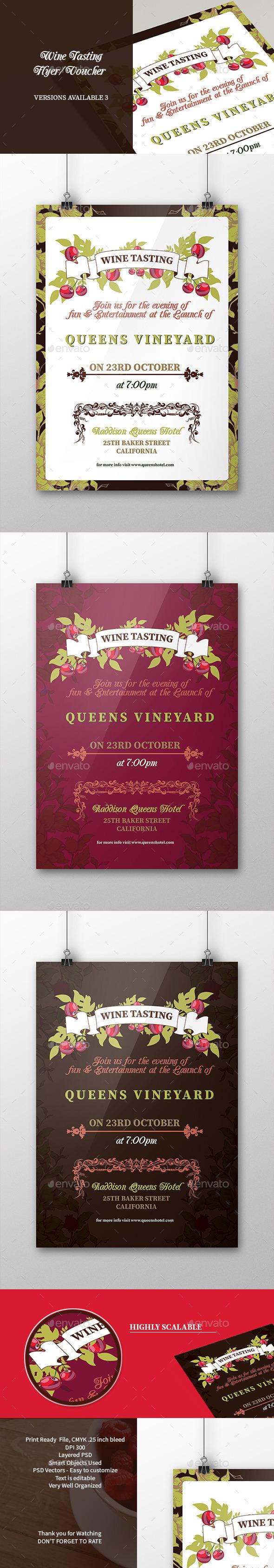 Wine Tasting Flyer Poster