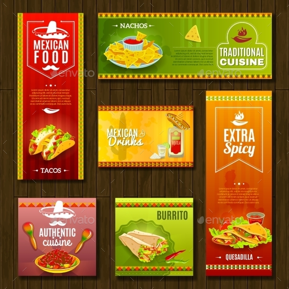 Mexican Food Banner Set - Food Objects