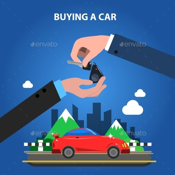 Buying A Car Concept - Miscellaneous Vectors