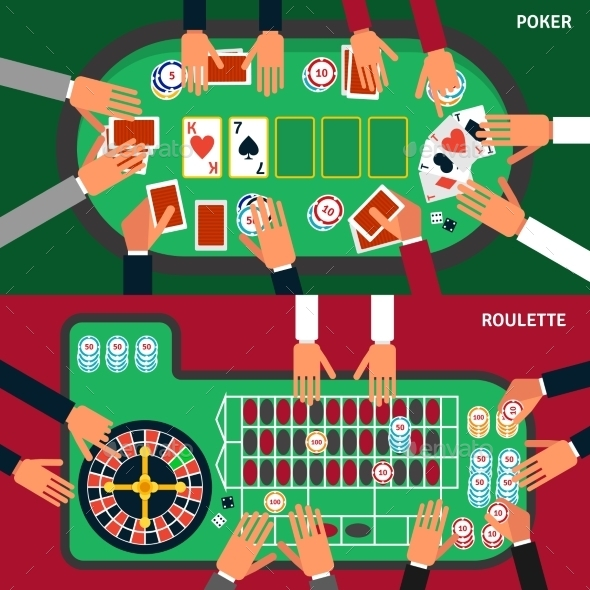 Casino Game Banner Set - Business Conceptual