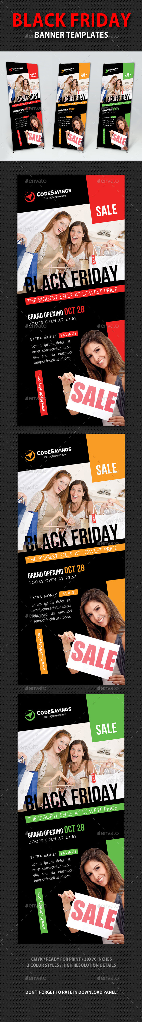 Black Friday Sale Banner Template V03 - Signage Print Templates