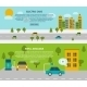 Electric Car Banner Set  - GraphicRiver Item for Sale