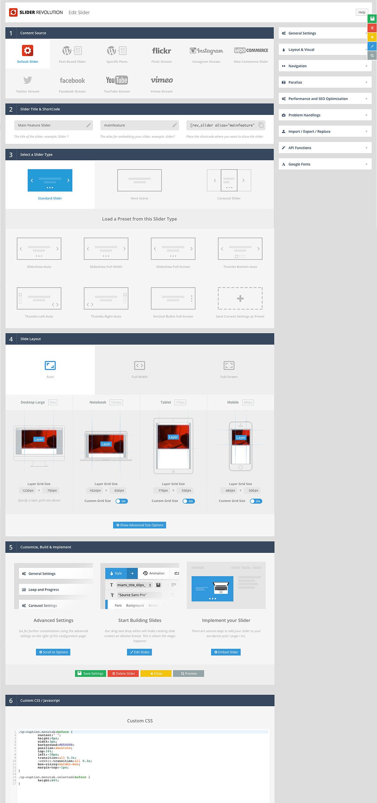 How to make revolution slider responsive in wordpress