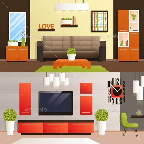Living Room Set - Miscellaneous Vectors