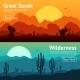 Desert Banner Set - GraphicRiver Item for Sale