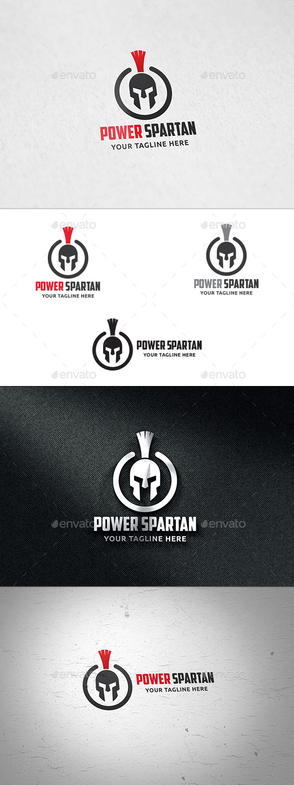 Power Spartan Logo Template