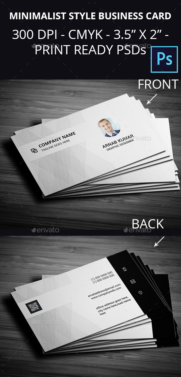 Minimalist Style Business Card - Creative Business Cards