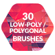 30 Low-Poly / Polygonal Photoshop Brushes #2 - GraphicRiver Item for Sale