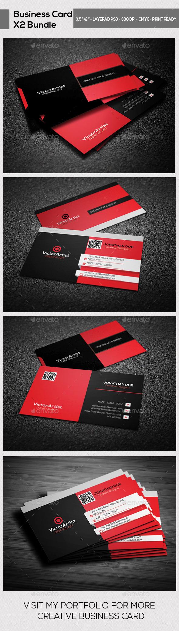 X2 Creative Business Card Bundle 02 - Creative Business Cards
