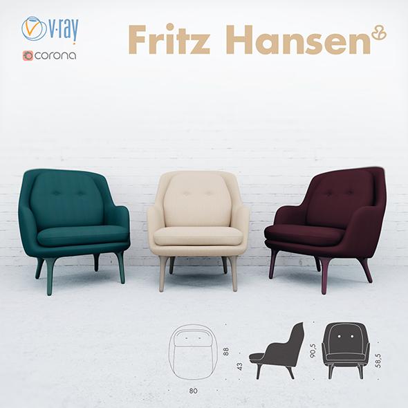 Armchair Fri - 3DOcean Item for Sale