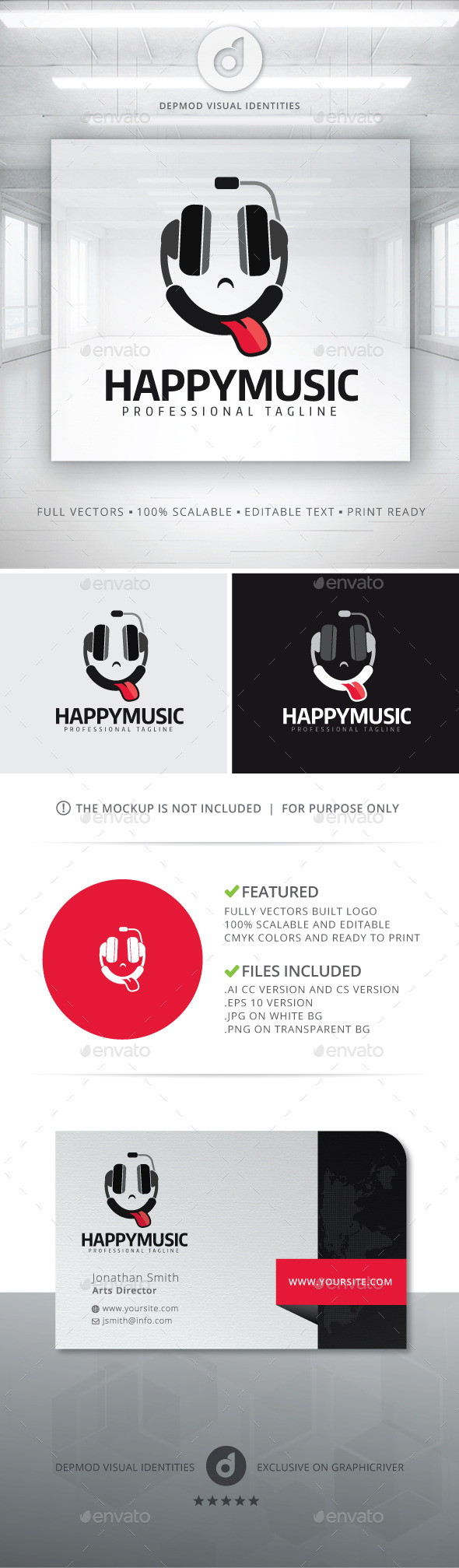Happy Music Logo - Objects Logo Templates