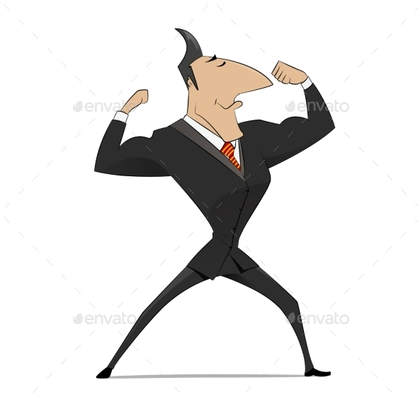 Strong Businessman  Concept - Concepts Business