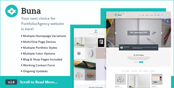 Buna – Agency/Portfolio WordPress Theme