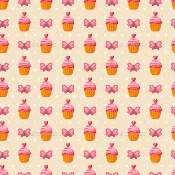 Cute Valentine Seamless Vintage Pattern.  - Patterns Decorative